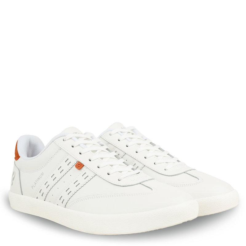 Q1905 Men's Sneaker Platinum - White/Orange