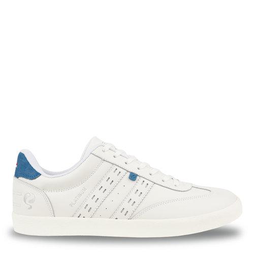 Heren Sneaker Platinum - Wit/Koningsblauw