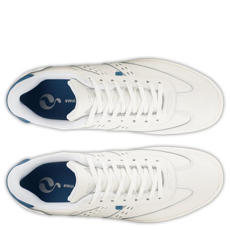 Q1905 Heren Sneaker Platinum - Wit/Koningsblauw