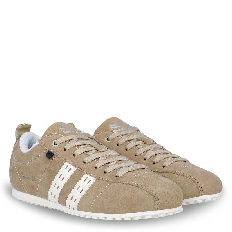 Q1905 Heren Sneaker Typhoon SP - Taupe/Wit