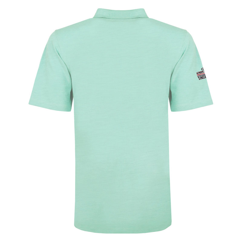 Q1905 Heren Polo Willemstad - Mint Blauw