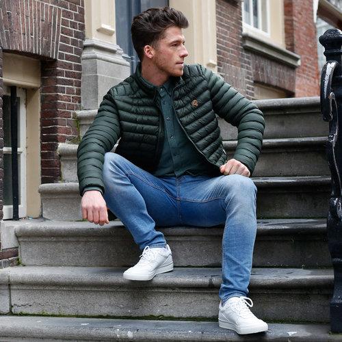 Men's Jacket Ravestein - Dark Green/Orange