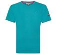 Q1905 Heren T-shirt Zandvoort - Aqua Blauw