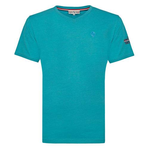 Heren T-shirt Zandvoort - Aqua Blauw
