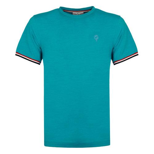 Heren T-shirt Katwijk - Aqua Blauw