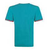 Q1905 Heren T-shirt Katwijk - Aqua Blauw