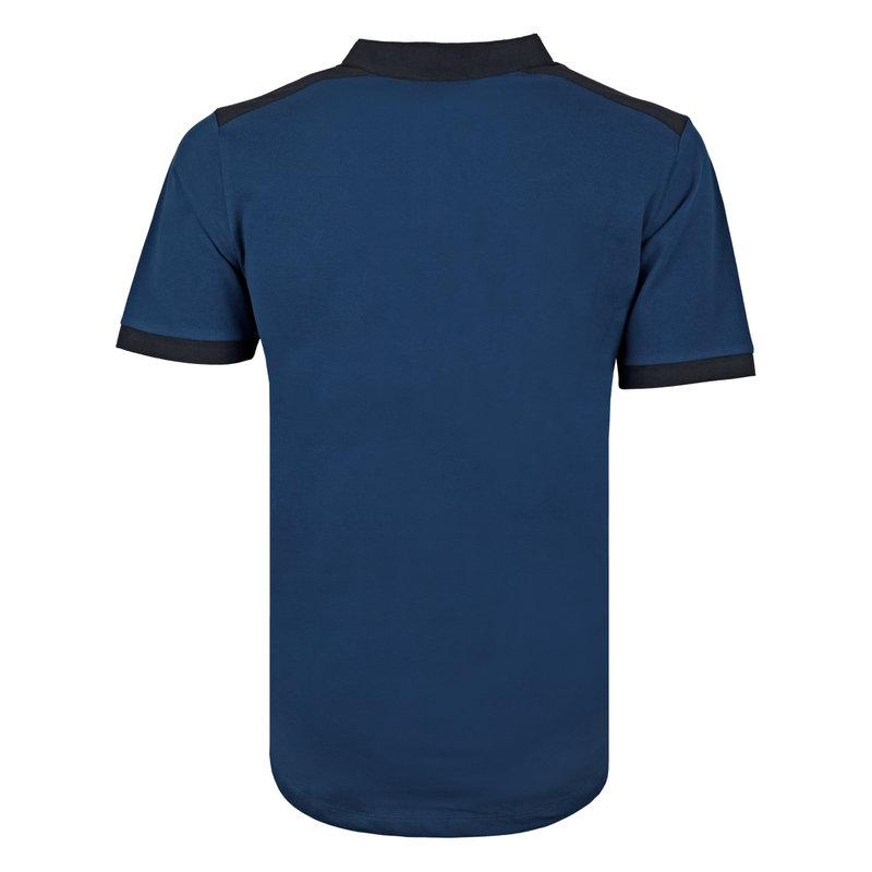 Q1905 Heren Polo Santpoort - Marine Blauw/Donkerblauw