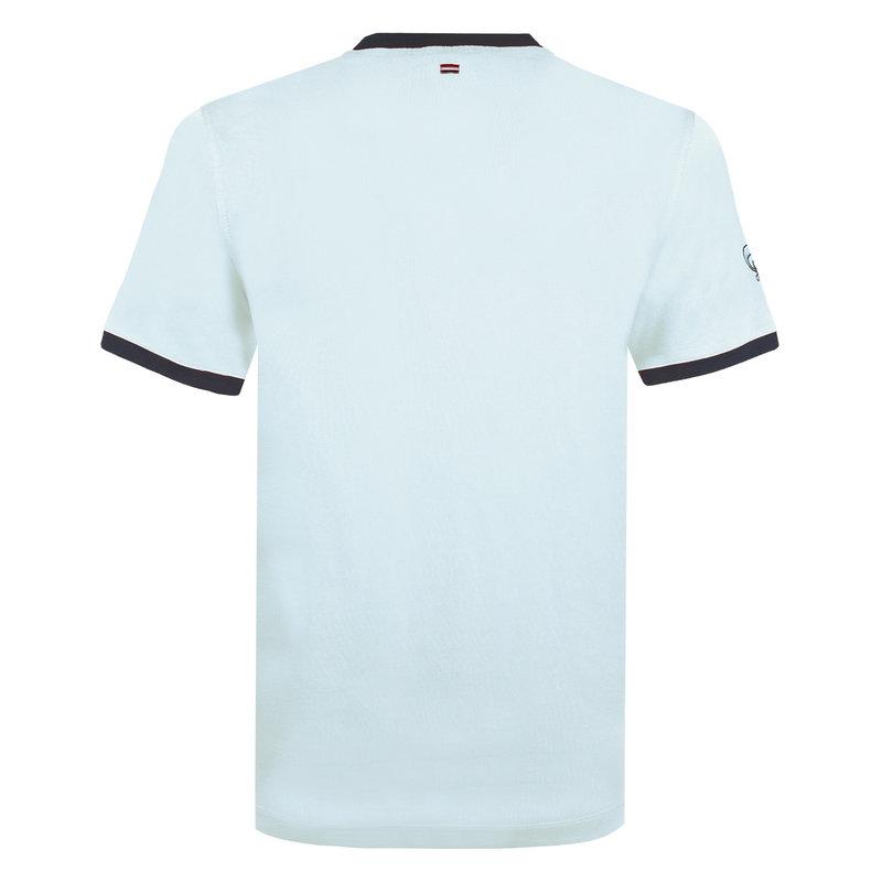 Q1905 Heren T-shirt Captain - Lichtblauw/Donkerblauw