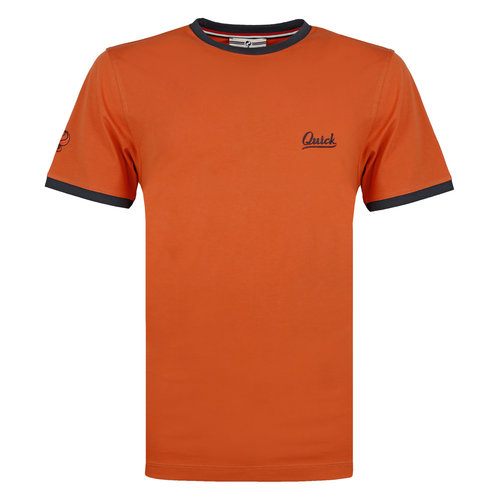 Heren T-shirt Captain - Roest Oranje/Donkerblauw