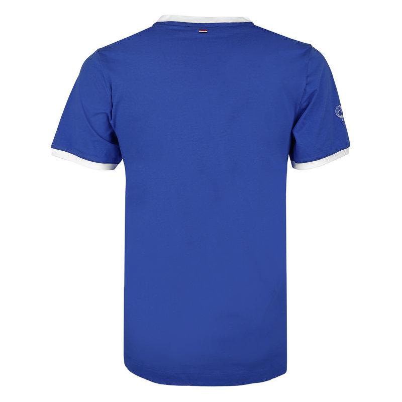 Q1905 Heren T-shirt Captain - Hard Blauw/Wit