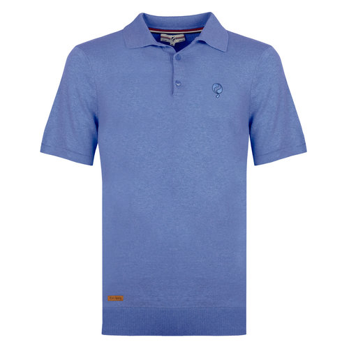Men's Polo Zoutelande - Mid Blue
