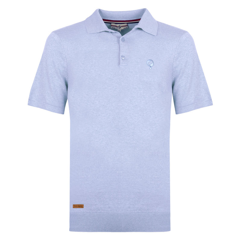 Q1905 Heren Polo Zoutelande - Lichtblauw