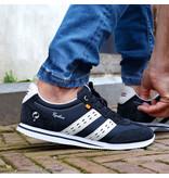 Q1905 Men's Sneaker Platinum - Dark Blue/White
