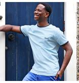 Q1905 Men's T-shirt Captain - Light blue/Dark Blue