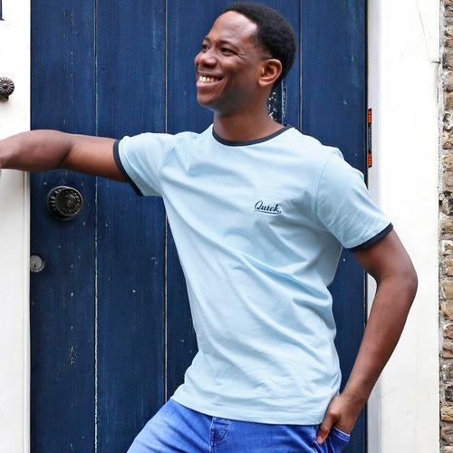 Heren T-shirt Captain - Lichtblauw/Donkerblauw