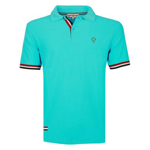 Heren Polo Matchplay - Aqua Blauw