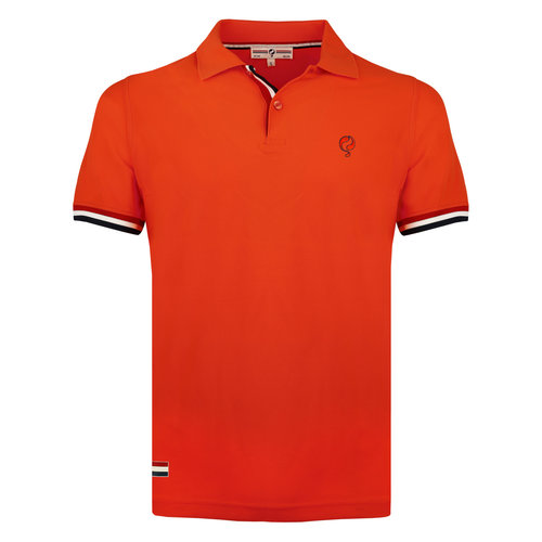 Men's Polo Matchplay - Orange Red