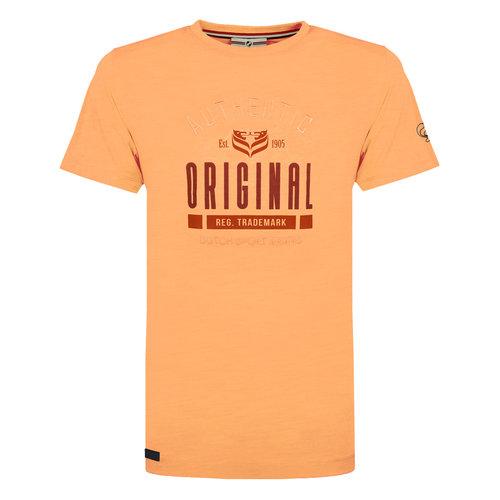 Heren T-shirt Duinzicht - Abrikoos
