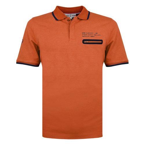 Heren Polo Zomerland - Roest Oranje