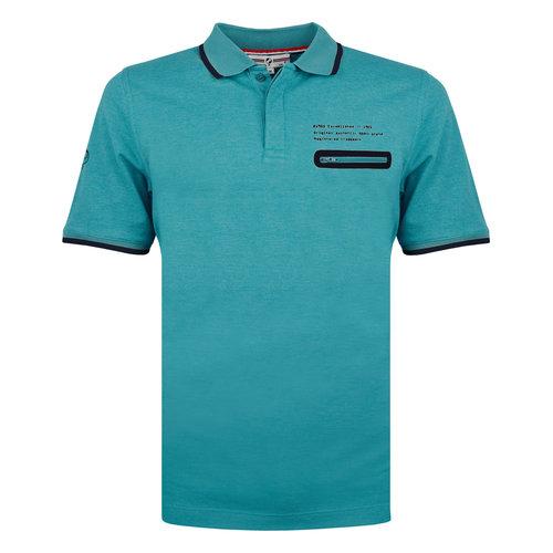 Men's Polo Zomerland - Auqa blue
