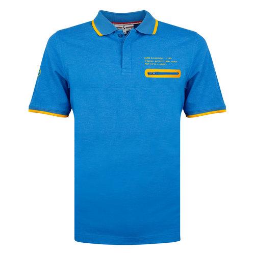 Heren Polo Zomerland - Kobalt Blauw
