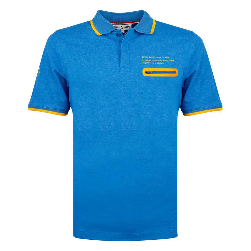 Q1905 Heren Polo Zomerland - Kobalt Blauw