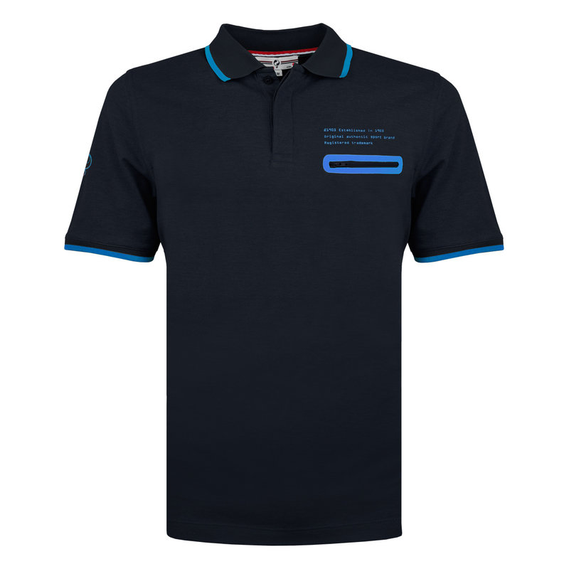 Q1905 Heren Polo Zomerland - Donkerblauw