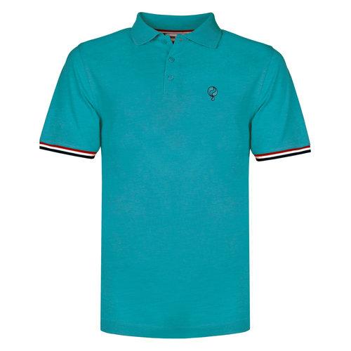 Heren Polo Bloemendaal - Aqua Blauw