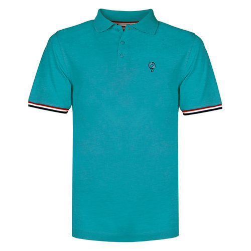 Men's Polo Bloemendaal - Aqua Blue