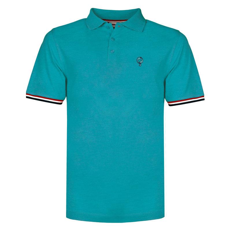Q1905 Heren Polo Bloemendaal - Aqua Blauw