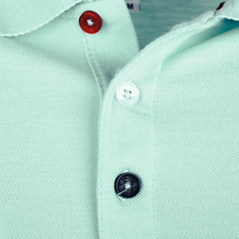 Q1905 Heren Polo Willemstad - Mint Blauw