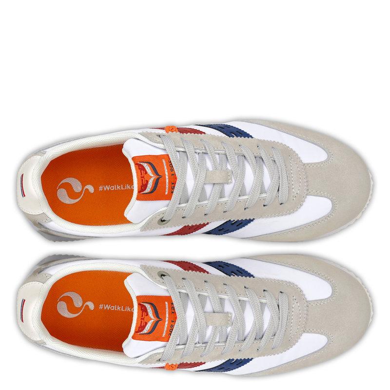 Q1905 Men's Sneaker Platinum - White/Red-Blue