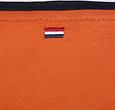 Q1905 Heren T-shirt Captain - Roest Oranje/Donkerblauw