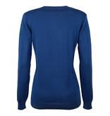 Q1905 Women's Pullover V-neck Rosewood Skydiver / Lime Navy