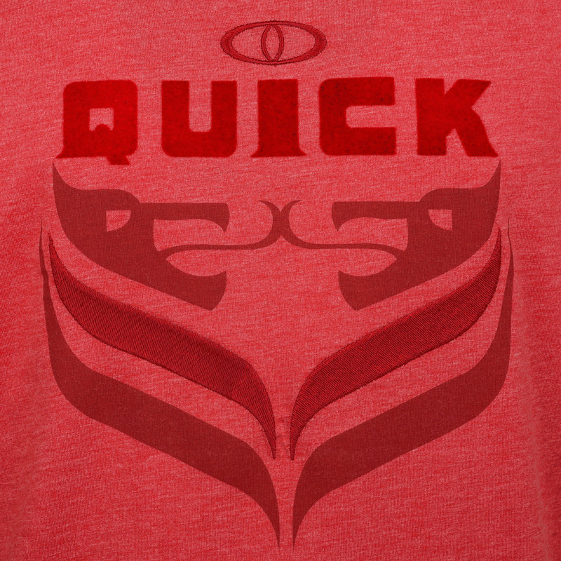 Q1905 Heren T-shirt Duinzicht - Rood