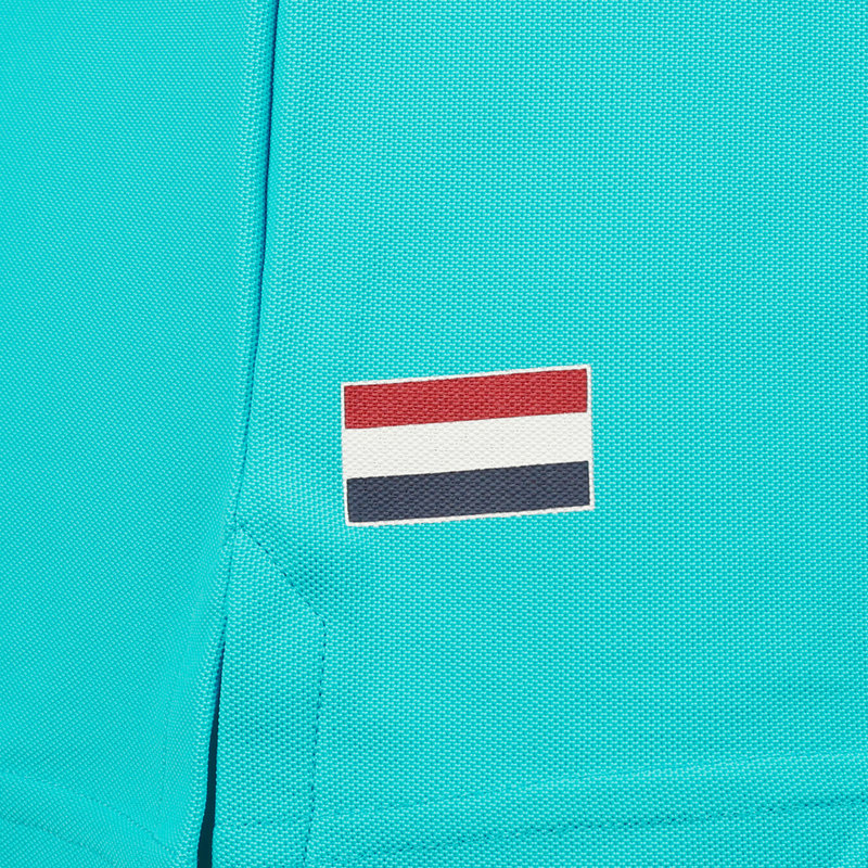 Q1905 Dames Polo Square - Aqua Blauw