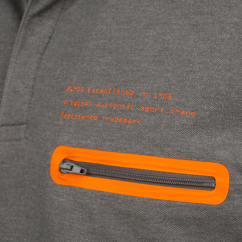 Q1905 Heren Polo Zomerland - Donkergrijs