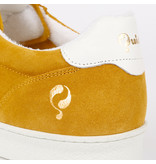 Q1905 Heren Sneaker Medal - Oker Geel/Wit