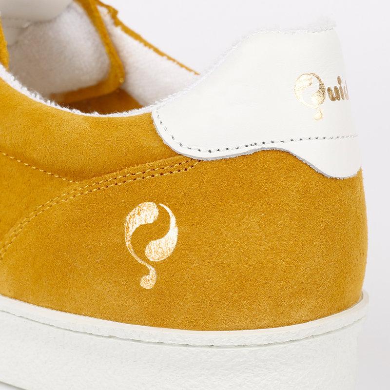 Q1905 Dames Sneaker Medal - Oker Geel/Wit