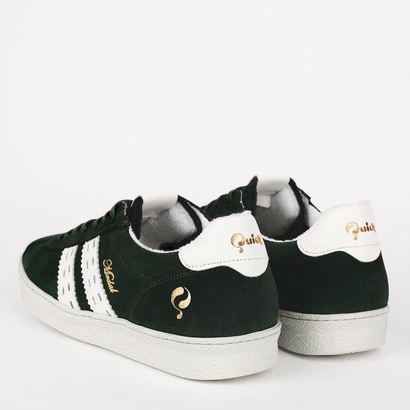 Q1905 Heren Sneaker Medal - Donkergroen/Wit