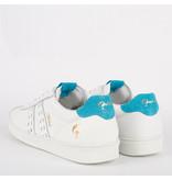Q1905 Heren Sneaker Medal - Wit/Aqua Blauw