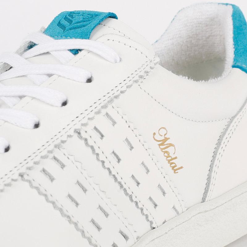 Q1905 Men's Sneaker Medal - White/Aqua Blue