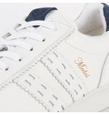 Q1905 Heren Sneaker Medal - Wit/Denim Blauw