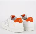 Q1905 Men's Sneaker Medal - White/Orange