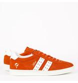 Q1905 Heren Sneaker Medal - Oranje/Wit