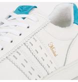 Q1905 Dames Sneaker Medal - Wit/Aqua Blauw