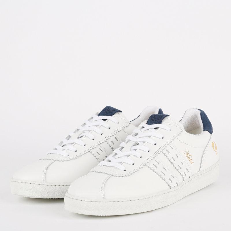 Q1905 Women's Sneaker Medal - White/Denim Blue