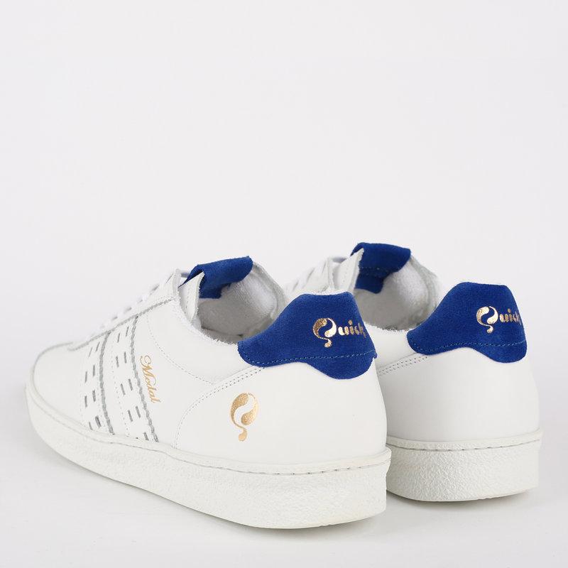 Q1905 Dames Sneaker Medal - Wit/Koningsblauw