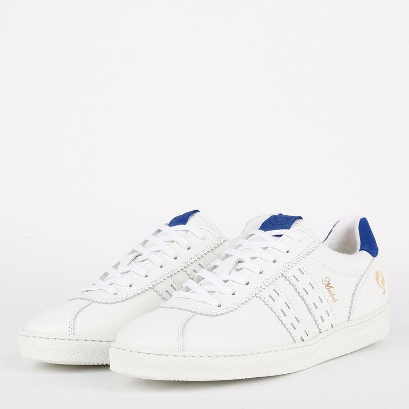 Q1905 Heren Sneaker Medal - Wit/Koningsblauw