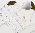 Q1905 Heren Sneaker Medal - Wit/Legergroen